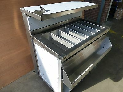 Mobile Cocktail Bar Station, Stainless Steel, Fully Insulated Ice Well