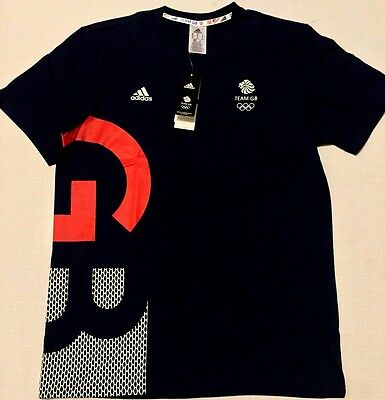 RIO 2016 TEAM GB Olympic OSP Tee Great Britain Adidas Training Cotton BNWT L-XL