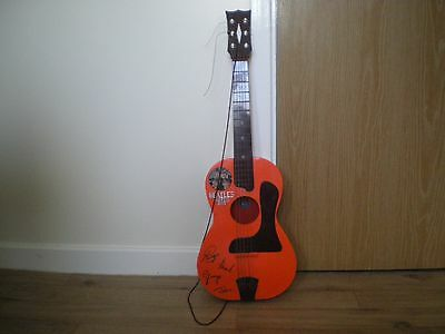 """The Beatles """"big 6 """" Toy Guitar & Case Made By Selco"""