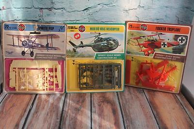3-Vintage 1973 AIRFIX 1/72 Airoplanes New Old Stock in sealed blister packs