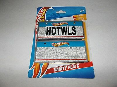 Mattel Hot Wheels make your own wall or bicycle vanity license plate set new