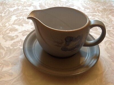 Denby Mandarin sauce/gravy boat with stand