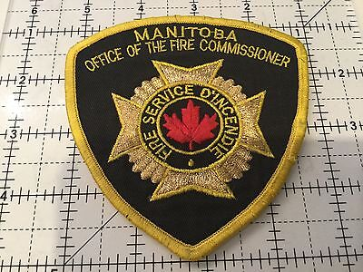 Canada Manitoba Patch Office Of The Fir Commissioner