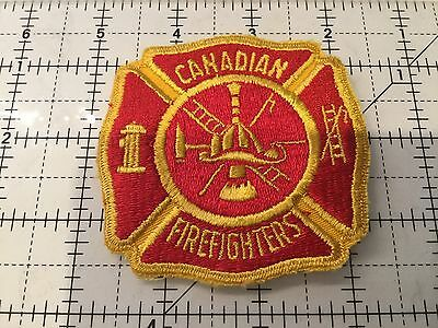 Canada Patch Canadian Firefighters