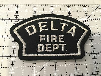 Canada British Columbia Patch Delta Fire Department