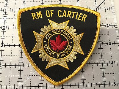 Canada Manitoba Patch Rm Of Cartier Fire Department