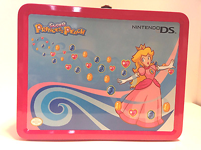 Nintendo DS Super Princess Peach metal lunchbox, Free shipping to US