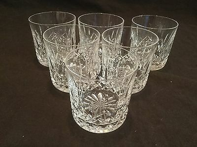 Set Of 6 Short Waterford Tumblers In The Lismore Pattern  (2)