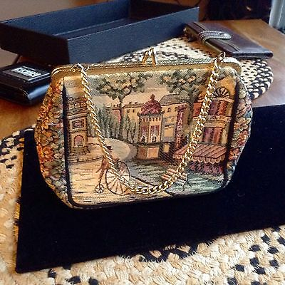 Vintage Tapestry bag by La Marquise.