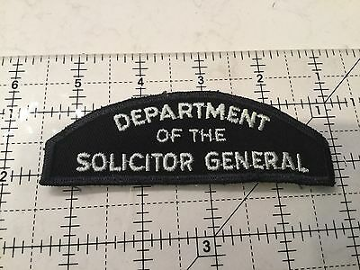 Canada Dept Of The Solicitor General Patch