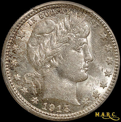 1915-S AU58 PCGS 25C Barber Quarter, Bright and Lustrous!! Free Shipping! MARC
