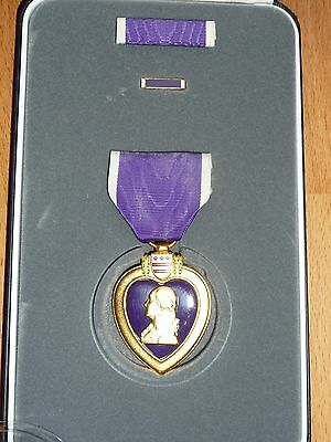 Special Price: Us Army Purple Heart Medal Class A Complete, Ribbon Of Honor Usmc