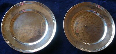 B3  -  Pair Of  Antique Sterling Silver Bread And Butter Plates