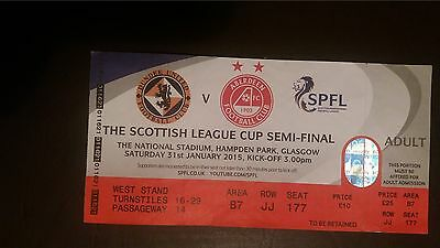 Dundee United v Aberdeen LCSF Ticket 2015