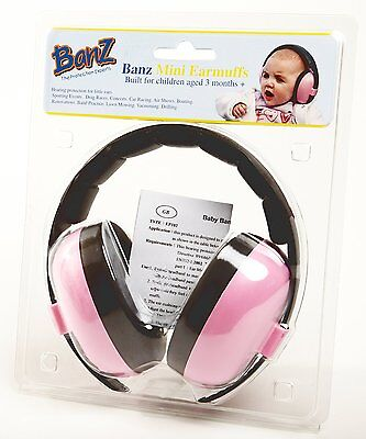 Baby Banz Baby Earmuffs - Pretty Pink for ages 0 - 2 Years