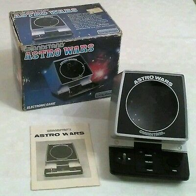 Grandstand Vintage Electronic Astro Wars Game Boxed 1981 Made In Japan