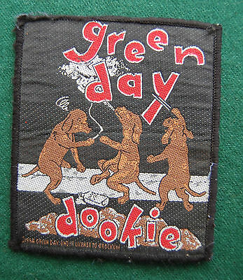 Green Day Dookie Patch/Cloth Badge - Vintage Music  Memorabilia 90s Official