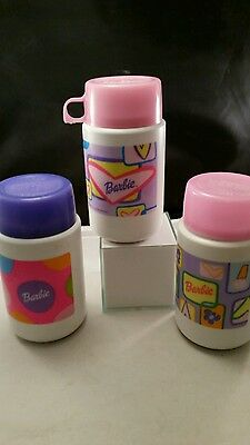 BARBIE 1999 THERMOS NEAT COLORS lot of 3