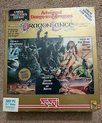 Advanced Dungeons and Dragons DragonLance volume 1, 2, 3 Krynn collectors
