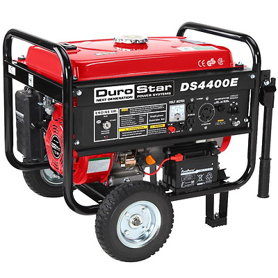 Durostar DS4400E 7 HP Gasoline Powered Electric Start Portable Generator with Wh