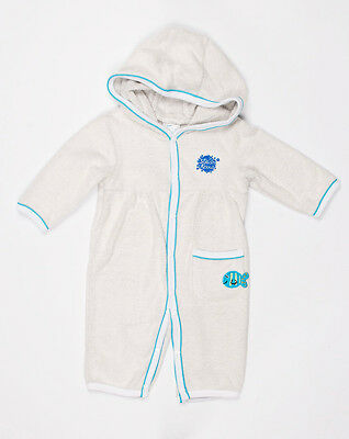 Splash About Apres All In One Towelling Bath Robe. 0-3 mths - Turquoise