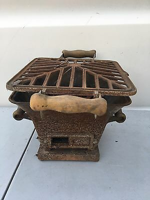 Vintage Antique Ornate Cast Iron Cook Heater Wood Coal Stove