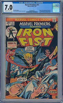MARVEL PREMIERE #15 - CGC 7.0 OW-WP VF- First IRON FIST