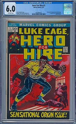 LUKE CAGE HERO FOR HIRE #1 - CGC 6.0 OW Pages FN First LUKE CAGE & DIAMONDBACK