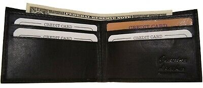 Ag Wallets Thin Kids Leather Small Bifold Black Cute Mini Wallet Gift Idea New !