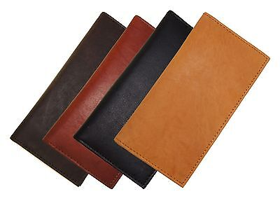 AG Wallets Branded New Hand Crafted Genuine Soft Leather Checkbook Cover Inserts