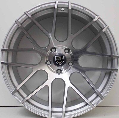 20inch GENUINE MADINA SILVER ALLOY WHEELS WIDE PACK SUIT HOLDEN COMMODORE VE,VF