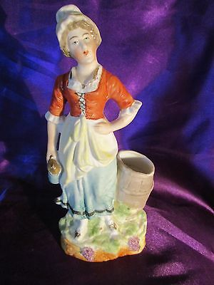 Antique  bisque figurine  handpainted c-1880,s Early china figurine
