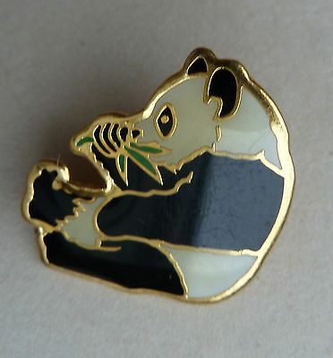 Panda Bear Eating Bamboo Lapel Hat Souvenir Pin