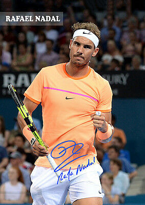 RAFAEL NADAL - Australia Open 2017 Signed Autographed Poster Print. AWESOME!!