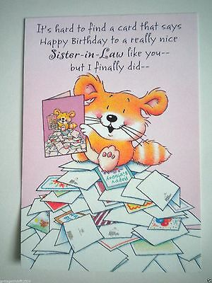 """Hallmark Crown ~ """"HAPPY BIRTHDAY TO SISTER-IN-LAW"""" GREETING CARD & ENVELOPE"""