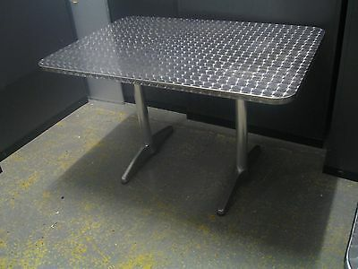 Commercial style Cafe /  Dining Tables With Stainless Steel Top.  120cm by 80cm