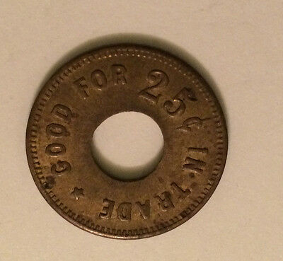 Token #1854 - Good For 25 Cent In Trade