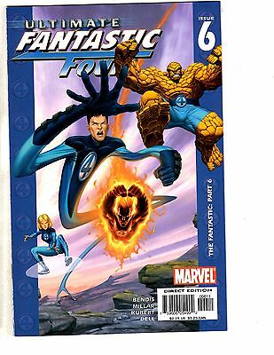 Lot Of 5 Ultimate Fantastic Four Marvel Comic Books # 6 7 8 9 10 Thing AK3