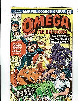 Lot of 2 Omega The Unknown Marvel Comic Books #1 2 WT18