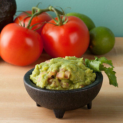 """HS1008 Chico Molcajete Salsa Dish Charcoal 4oz 4"""" HS INC NEW! NSF APPROVED"""