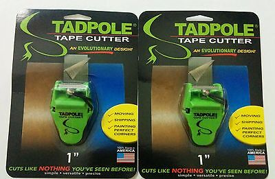 Tadpole Tape Cutter 1 Inch Set of 2 Packages Brand New Unopened