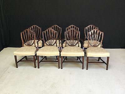 Sets Of 6 & 8 Beautiful George Hepplewhite Style Chairs Pro French Polished.