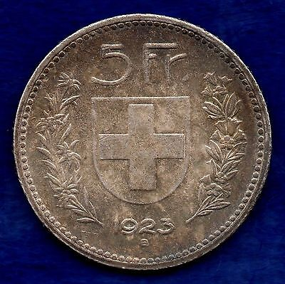Switzerland, 1923 5 Francs, Good Grade (Ref. c5388)