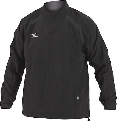 Clearance Line New - Gilbert Rugby Jet Training Jacket- Black - 3XL