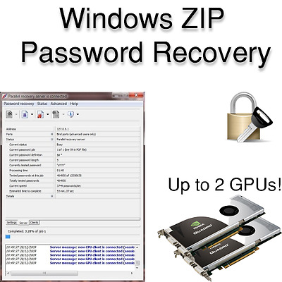 ZIP Password Recovery Software for Windows with GPU Acceleration