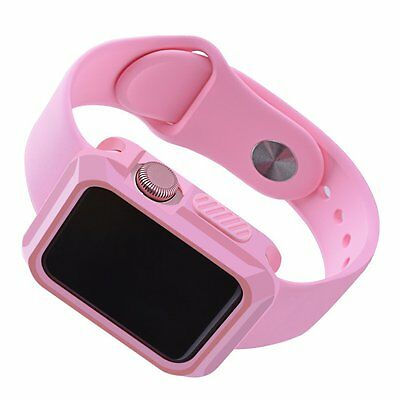 Pink Apple Watch Case Cover Protector iWatch Bumper 38mm mm Flexible Durable New