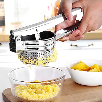 UBLISS 10 Inch Stainless Steel Large Potato Ricer Masher for Food Fruit Press