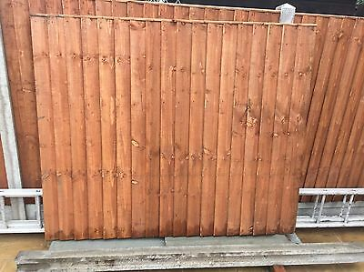 1 X Feather edge Fence Panel, Concrete Post And Gravel Board