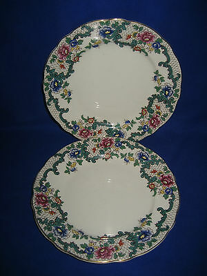 "2 x  Vintage  Royal Cauldon Side Plates  ""Victoria"" Design Britain 1950's"