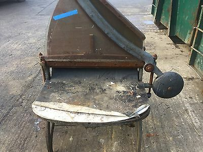 Vintage Book  Paper Cutter Guillotine Metal Cast Iron Table Base